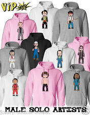 VIPwees Unisex Hoodie Male Solo Artists Music Inspired Caricatures Choose Design
