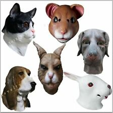 Animal Latex Masks House Pet High Quality Overhead Party Dress Up Hand Made