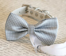 Gray Dog Bow Tie, Dog ring bearer, Pet Wedding accessory, Gray wedding accessory