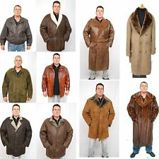 $50 VOUCHER on Mens SHEARLING SHEEP LAMB SKIN MINK FOX LEATHER FUR JACKET COAT