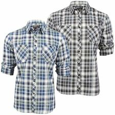 Mens Shirt By Dissident Check 'Vega' Roll Up Sleeve