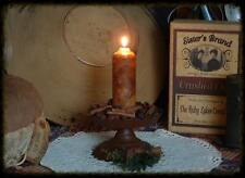 4-CHUNKY PRIMITIVE GRUBBY GRUNGY TAPER CANDLES-17 FRAGRANCES SCENT BOWL FILLERS