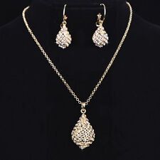 Fashion jewelry Hot Italina 18K Rose Gold Plated Crystal Gift Necklace Sets