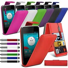 Vodafone Smart 4 Mini Stylish Funky Pull Tab Flip Wallet Hard Case Cover