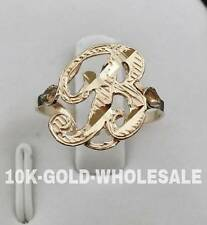 NEW 10K YELLOW GOLD INITIAL RING LADIES 10KT RING I-11