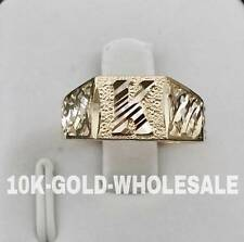 NEW 10K YELLOW GOLD INITIAL RING MENS & LADIES 10KT RING I-56