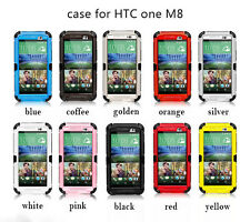 For HTC ONE M8 Heavy Duty Aluminum Military Duty Protective Phone Cover Case