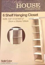 NEW HANGING ORGANISER STORAGE SHELF WARDROBE CLOSET CLOTHES HANGER SHOE 6 LAYER