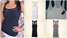 Hollister Logo Lace Trim Tank Top ~ Choose Color & Size ~ New With Tags 2014