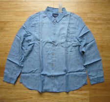NWT American Eagle Outfitters WOMENS AE Boyfriend Chambray Shirt $44.95 Size L