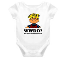 What Would Dennis The Menace Do Cartoon Baby One Piece T Shirt