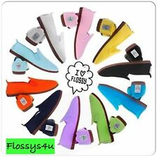 Flossys flossy style plimsoll flat shoes men and women ADULT uk sizes 2.5 to 12