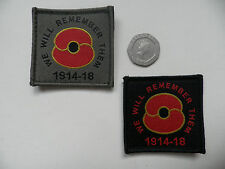 Poppy Badge, velcro backed for Osprey /Body Armour. 100 years rememberance.