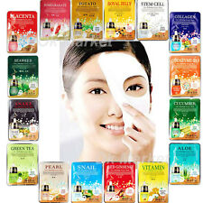 8 pcs Facial Mask Sheet Moisture Collagen Face Pack Korean Essence Skin Care Set