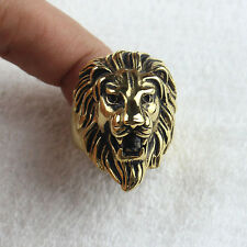 Men's Jewelry Gold Lion King 316L Stainless Steel Ring