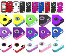 Shockproof Gel Rubber TUFF HYBRID FOR IPHONE 5S 5G Hard Case Cover New