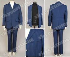Who is Doctor Dr Blue Pinstripe Business Suit Blazer+Pants Cosplay Costume Set