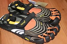 Vibram Fivefingers SPYRIDON men's toe shoes black orange 40 41 42 43 44 45 46