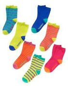 GYMBOREE Color Happy 7pk Multi-Color Days Of The Week Socks Size 4 NWT