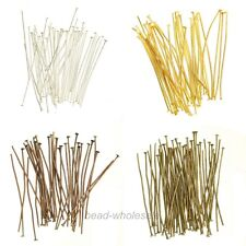 Wholesale 100Pcs Silver/Gold/Copper/Bronze Color Metal Head Pins 15mm For Craft