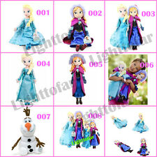 8 Styles Disney Frozen Anna&Elsa Olaf Snowman Stuffed Plush Doll Kids Gift Toy