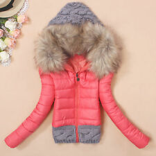 New winter coat hooded short down jacket ladies padded cotton jackets