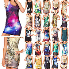 Sexy Women Space Galaxy Top The Hobbit Middle Earth Map Short Mini bodycon Dress