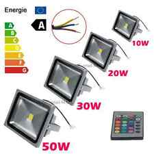 Outdoor 10W 20W 30W 50W RGB LED Flood Light Landscape Lamps Waterproof AC85-265V