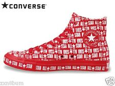 Converse All Star Sneakers Full of Logotype Logo Unique Funny 2014 Summer Red
