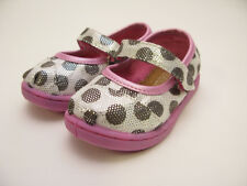 TINY TOMS MARY JANE SILVER DOT TODDLER 10002738