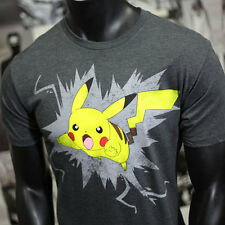 OFFICIAL BRAND Pokemon Pikachu Men Anime T-shirt LIGHTING
