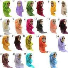 SUMMER Muslim Voile Long Scarf Hijab Islamic Shawls Wraps Diff Colors