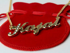 Name Necklace KAJAL 18k Gold Plated Personalized Gifts Swarovski Indian Jewelry