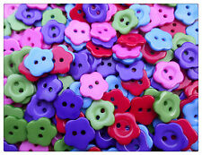 20 x 2-Hole Resin Buttons - Flower - 14mm [Various Colours Available]