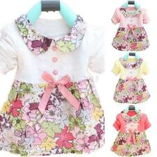 Beautiful Baby Kids Dresses Girls Floral Princess Dress Bowknot Dress Skirt 0-2Y