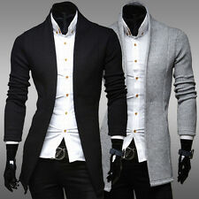 Fashion Men Fitted Knitting Sweater Luxury V-Neck Cardigan  Woolen Outwear