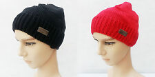 New Unisex Men Women Warm Winter Wool Knit Beanie Skull Cap Hat 2 Colors
