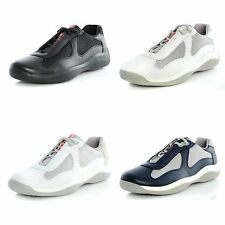 Men's Shoes PRADA SPORT Trainers AMERICA'S CUP NEVADA Leather BIKE Fabric PS0906