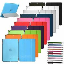 Magnetic Slim Leather Smart Stand Flip Cover For Apple iPad with Hard Back Case