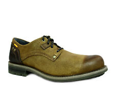Caterpillar RUSK  Mens Oxford Work and Casual Dark Beige Leather Shoes
