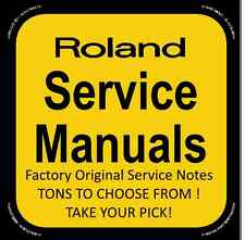 Original Factory Roland Service Notes (R-X) Service Manuals- Tons to Choose From
