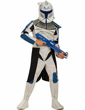 Child Clone Wars Clone Trooper Leader Rex Star Wars Fancy Dress Costume Outfit