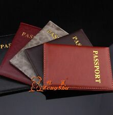 Passport Holder Protector Cover Wallet PU Leather Cover