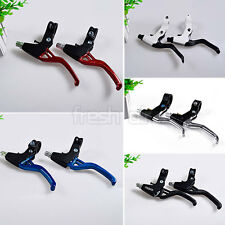 Lightweight ALLOY Brake Levers 2-finger Bike Bicycle BMX Various Colours New