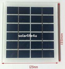6V 200mA Tempered Glass Mini Solar Panel Module System Epoxy Cell Charger New