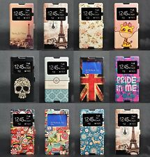 Window View Flip Wallet Cartoon Leather Case Cover for Sony Xperia T2 Ultra