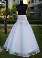 New White A-line One Hoop Wedding Bridal Gown Petticoat Crinoline Underskirt