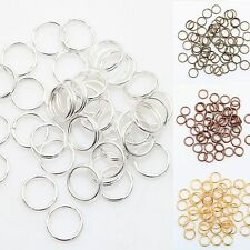 Gold & Silver Plated Metal Double Split Jump Rings 4,5,6,8,10,12MM Jewelry DIY