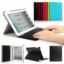 Ultra Slim Leather Case Cover Stand Wireless Bluetooth Keyboard For iPad