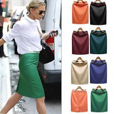 Women Ladies High Waist Skirt Slim Hip Casual Pencil Party OL New Short Skirt